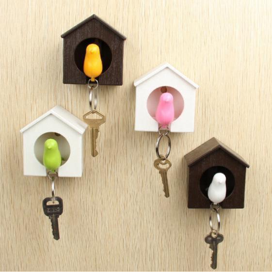 Spatz - Schlüsselhalter im Vogelhaus