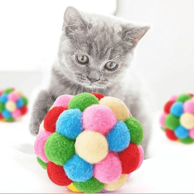 Franky - der bunte Spielball für deine Katze
