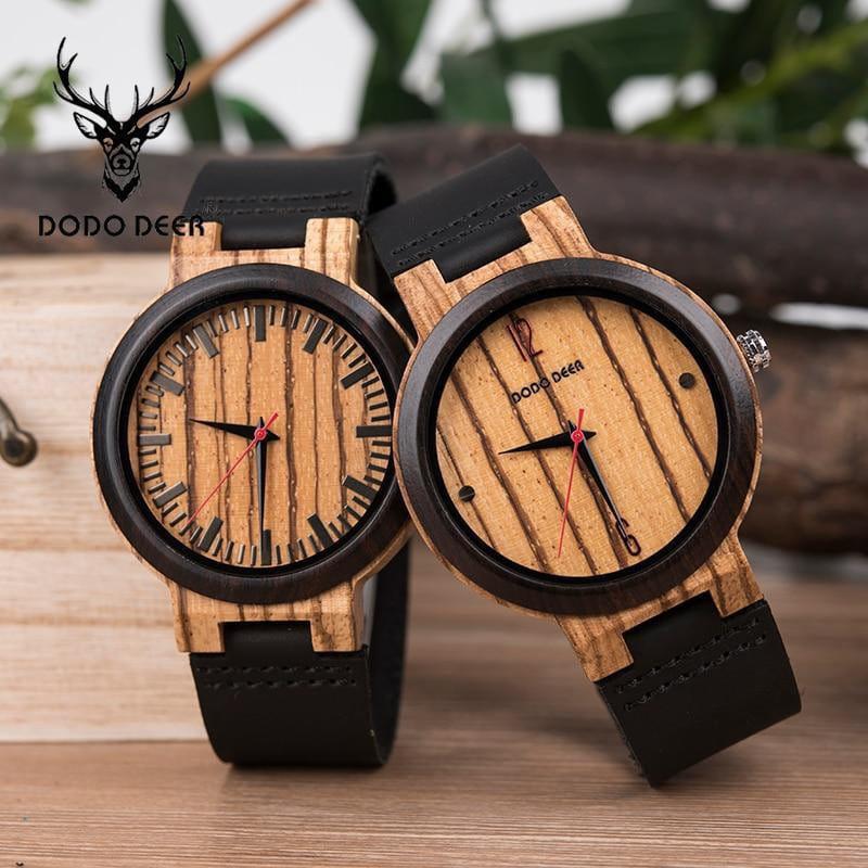 DODO ZEBRA - Holz Quartz Herren Uhr handgemacht