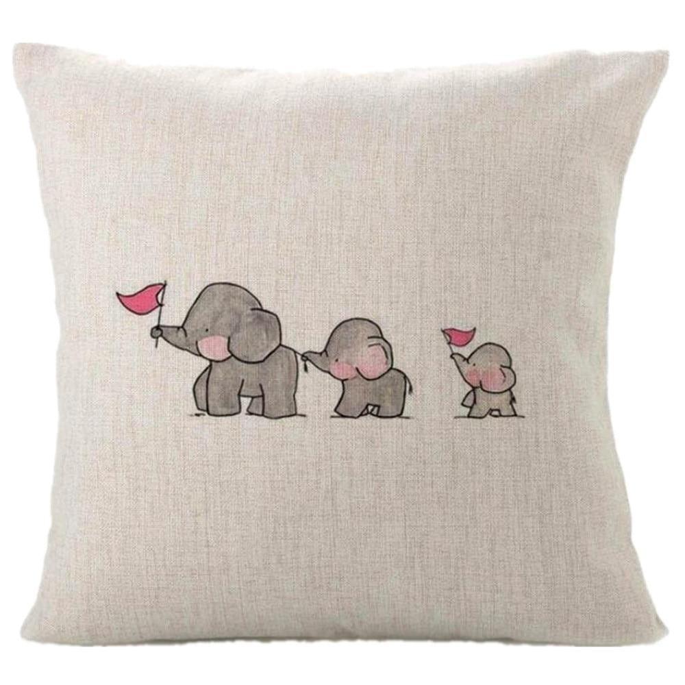 ELEFANT - der Kissenbezug mit süßem Elefantenmotiv