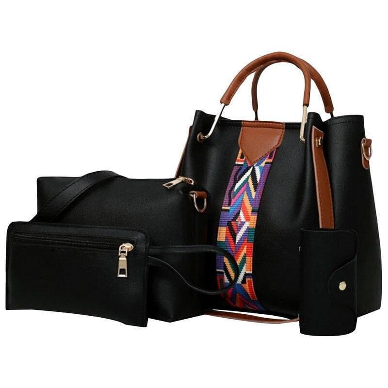 Moi - Damenhandtasche vierteiliges Set