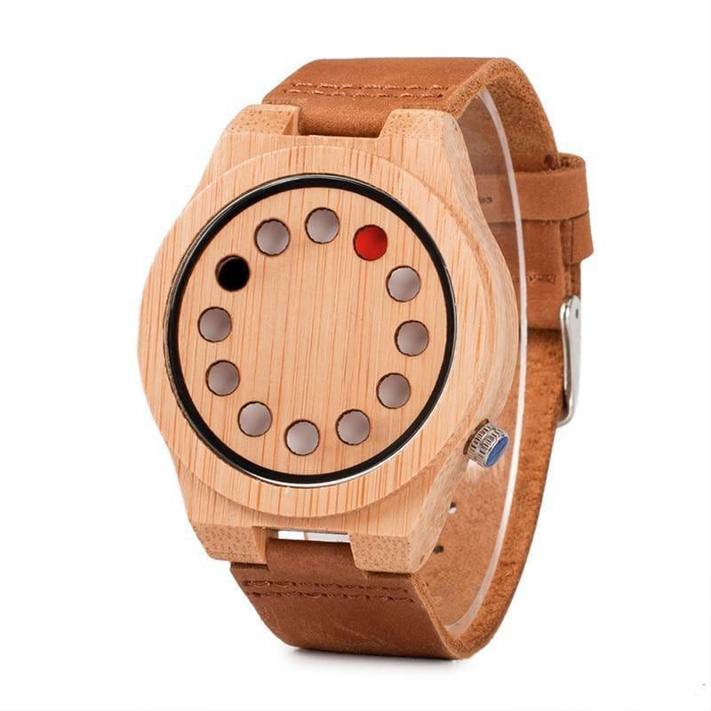 Punkta - die besondere Bambus Holz Uhr